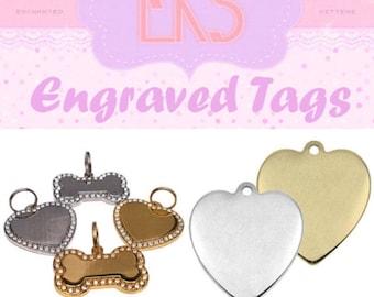 Custom Engraved Tag Personalised