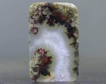 Polished Moss Agate Stone Cabochon Natural Gemstones (V4287)