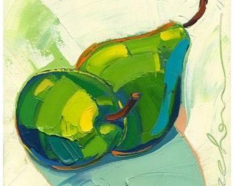 Original painting - Eternally Pears -12X12-Modern Fine Art