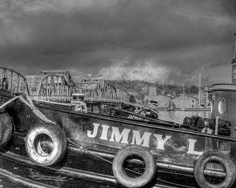 Jimmy L Fine Art Photograph, Tugboat, Sturgeon Bay, Maritime Museum, Door County, Wisconsin - Home Decor