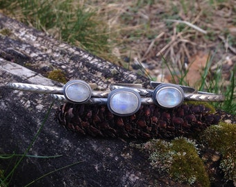 Moonstone Stacker Cuff - MADE TO ORDER