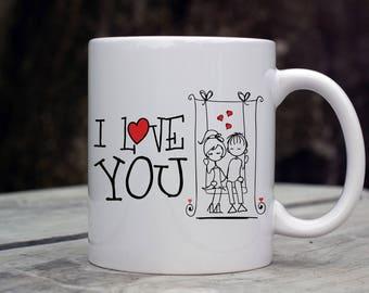 Valentine's Day Mug, I Love You Mug, Valentine's Coffee Cup, Couples Coffee Mug, Holiday Mug, Expression mug, Valentine's Day Gift