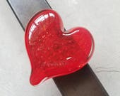 Cherry Red Bubble Glass H...