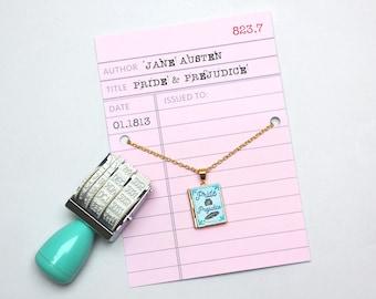 Pride and Prejudice Book Locket Charm. Jane Austen Book Charm. Book Necklace. Book Jewellery. Austen Gift. Literary Jewelry. Locket Library