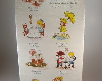 Monday's Child Shadow Box Kit Heirloom Crafts, Wall Hanging, Wall Display, Home Decor, Craft Project