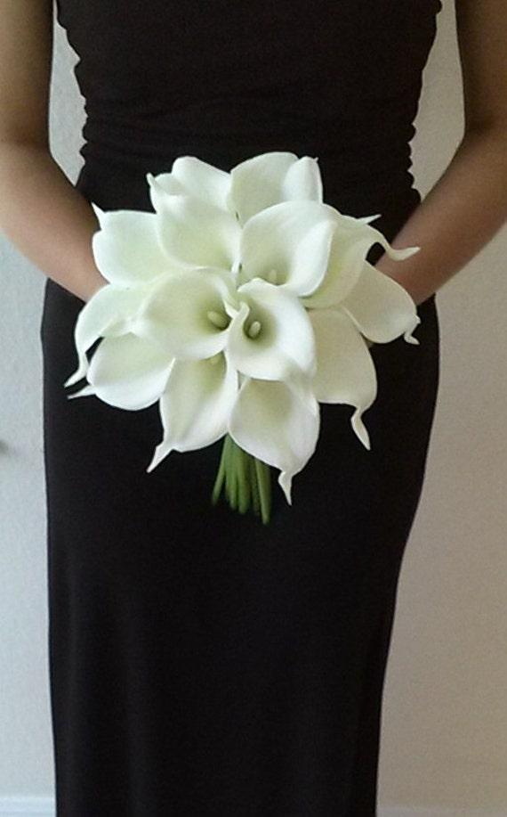 bouquet de mari u00e9e fleur de lys calla blanc avec calla lily