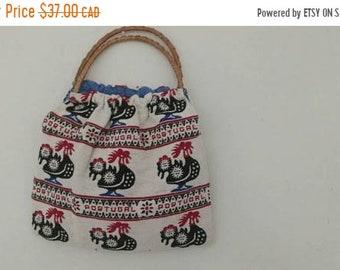 sale: Cute vintage woven portugal handbag