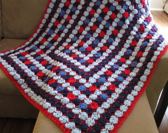 NEW! gift idea crochet afghan/throw medallion multicolor very beautiful colorful