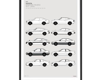 Toyota Trueno Generations Poster