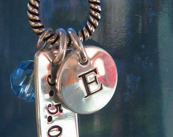 Handstamped Mom's Necklace