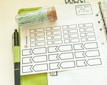 Double Flag/Ribbon Stickers for Planners and Journals