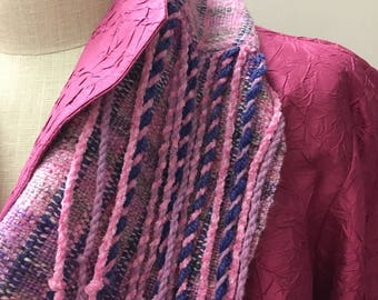 Hand Woven Mobius Cowl,  Handwoven Cowl, Infinity Scarf, Handmade Scarf, Unique Gift, Multi-colored, Statement Accessory