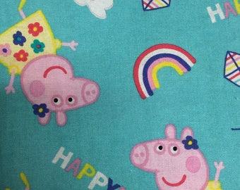 Peppa Pig handmade cotton standard size pillowcase