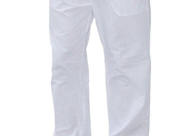 Men's pants organic cotton, adjustable waist, breathable for the body, summer clothing.