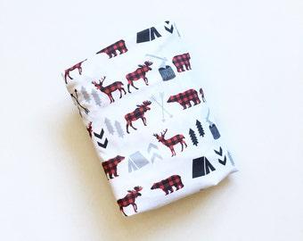 Crib Sheet Buffalo Plaid Animals. Fitted Crib Sheet. Baby Bedding. Crib Bedding. Minky Crib Sheet. Crib Sheets. Woodland Animal Crib Sheet.