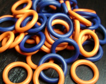 15mm Orange and Navy Blue O Ring Mix  ... 44 ct.