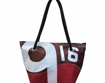 Recycled Brown 916 Dacron sailcloth bag