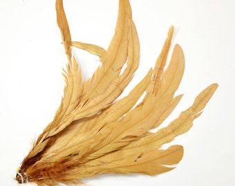 "Rooster Tail Satinette XXXLong - Caramel, 14-16"" tall (20pcs)"