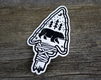 Sticker 2 Pack - le grand ours noir