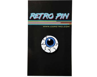 Eyeball punk Metal Enamel Clutch Hat Backpack Flair Vest Pin vintage retro style