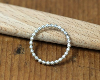 Sterling Bead Ring- Free Shipping, sterling stacking ring, silver stacking ring, silver ring, sterling ring