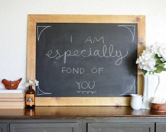 Framed Chalkboard - Shabby Chic Chalkboard - Farmhouse Decor - Free Shipping