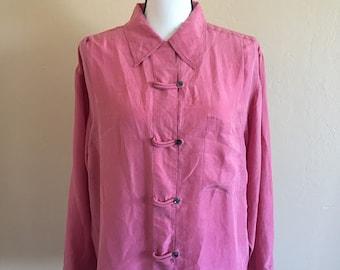 Vintage nantucket red silk blouse
