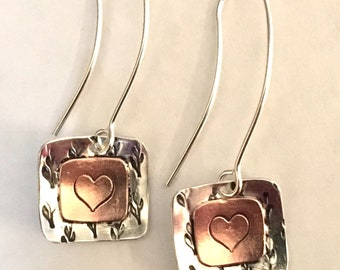 Sterling & Copper Earrings               Made to Order