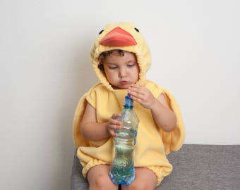 Yellow Duck Costume, Toddlers Halloween Costume, Party Costume, For Boys or Girls, Toddler Infant Costume, Ducky Duckling Chick Chicken