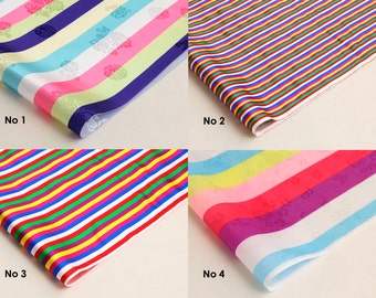 Korean traditional pattern 'Saekdong' fabric hanbok Colorful stripe pattern fabric Table Cloth for first birthday Dol
