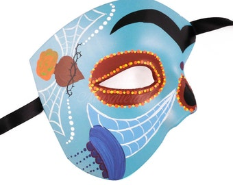 Day of the Dead Skull Mask, Dia de los Muertos Mask, Masquerade Mask for Festivals, Weddings and Costumes