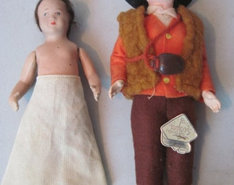 Two Vintage dolls composition and Italy