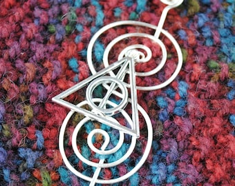 Wizard Shawl Pin in Silver