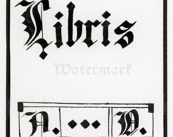 Ex Libris lender's bookplate- Digital