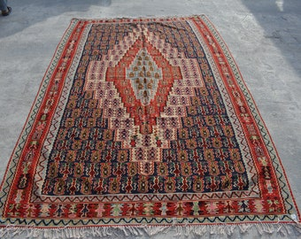 DISCOUNTED PRICE / Persian Hand Knotted Medallion design wool kilim rug