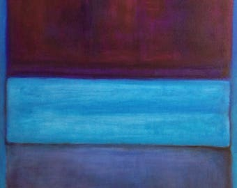 Hand Painted Mark Rothko Inspired No.61 Painting Reproduction On Canvas