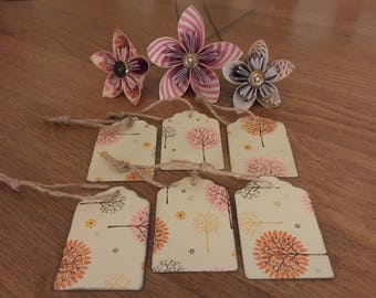 Rustic gift tags set of 6