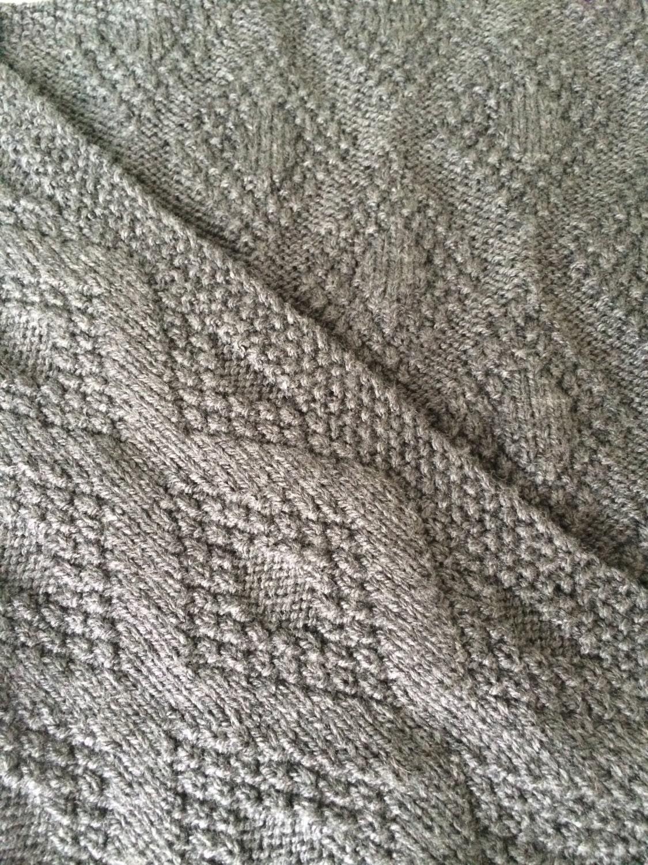 Knitting Pattern, Double Diamond Baby Blanket , PDF, Instant ...