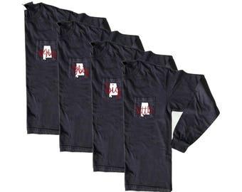 Long Sleeve // Sorority // YOUR STATE // Comfort Colors Pocket Tee // Vinyl Design Shirt // Little // Big // GBig // GGBig