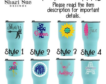 Teal 30oz. Rtic Tumbler, personalized tumbler, personalized RTIC, stainless steel tumbler, personalized gift