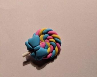 Lollipop Brooch (Blue)