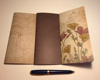 """Set of 3 Weeks Traveler's Notebook Inserts """"Far Away Places"""""""