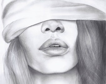 "Original Graphite Drawing - ""OBSESSION"""