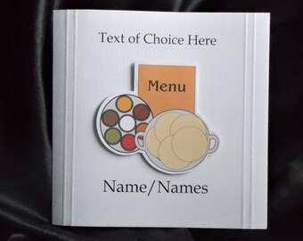 Personalised Curry Dinner Card Any Occasion, Birthday, Invitation, Congratulations, Thank You, Father's Day, Mother's Day etc.