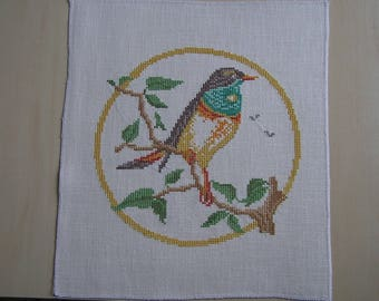 Yellow bird embroidery