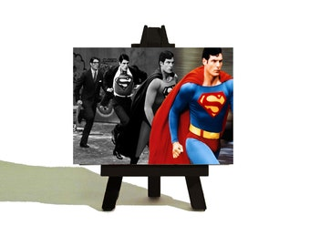 Clark to SUPERMAN - Awesome Miniature Canvas and Easel Set - The Perfect Gift - Fantastic STOCKING FILLER