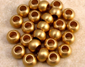 Round Ball Solid Brass Bead, 25 Pieces M154