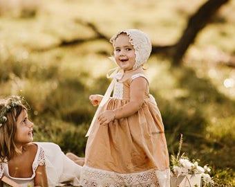 Photoshoot dress, Family photo dress, Special occasion dress, Toddler Girl Dress by bitty bambu