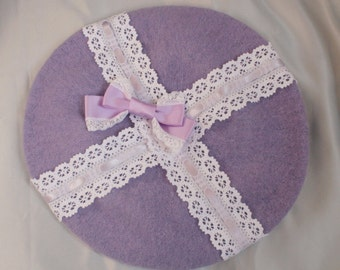 RIBBON LACE Bow BERET All Colours
