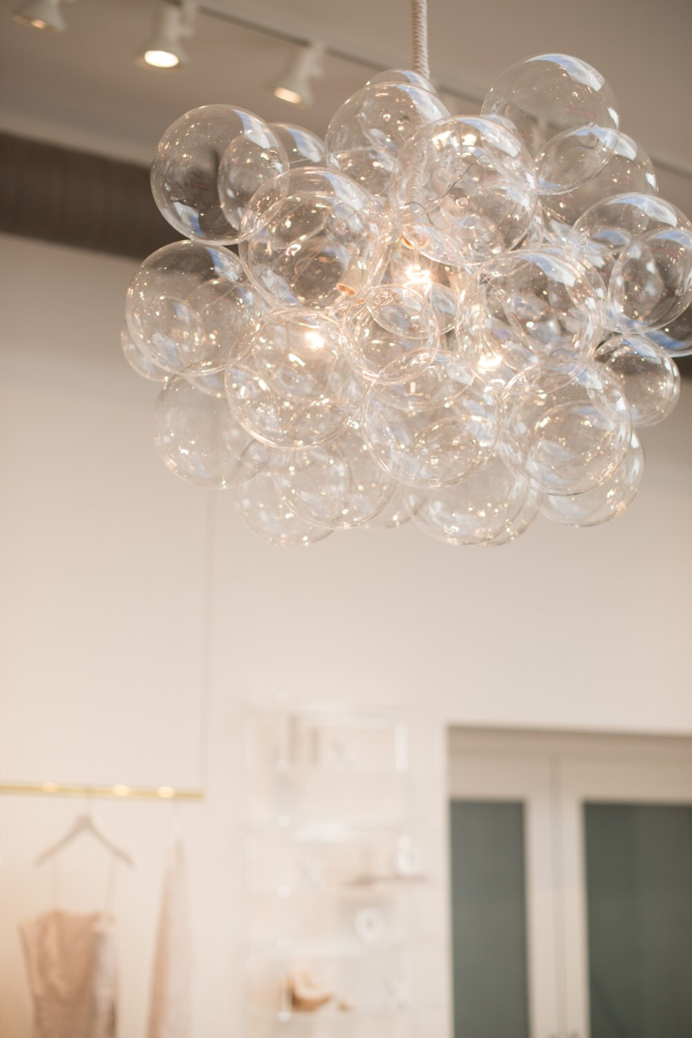 The 45 bubble chandelier bubble light dining room zoom arubaitofo Image collections